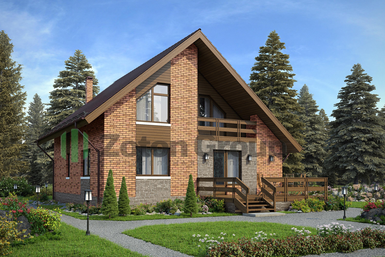 Красивые кирпичные дома с мансардой фото проекты